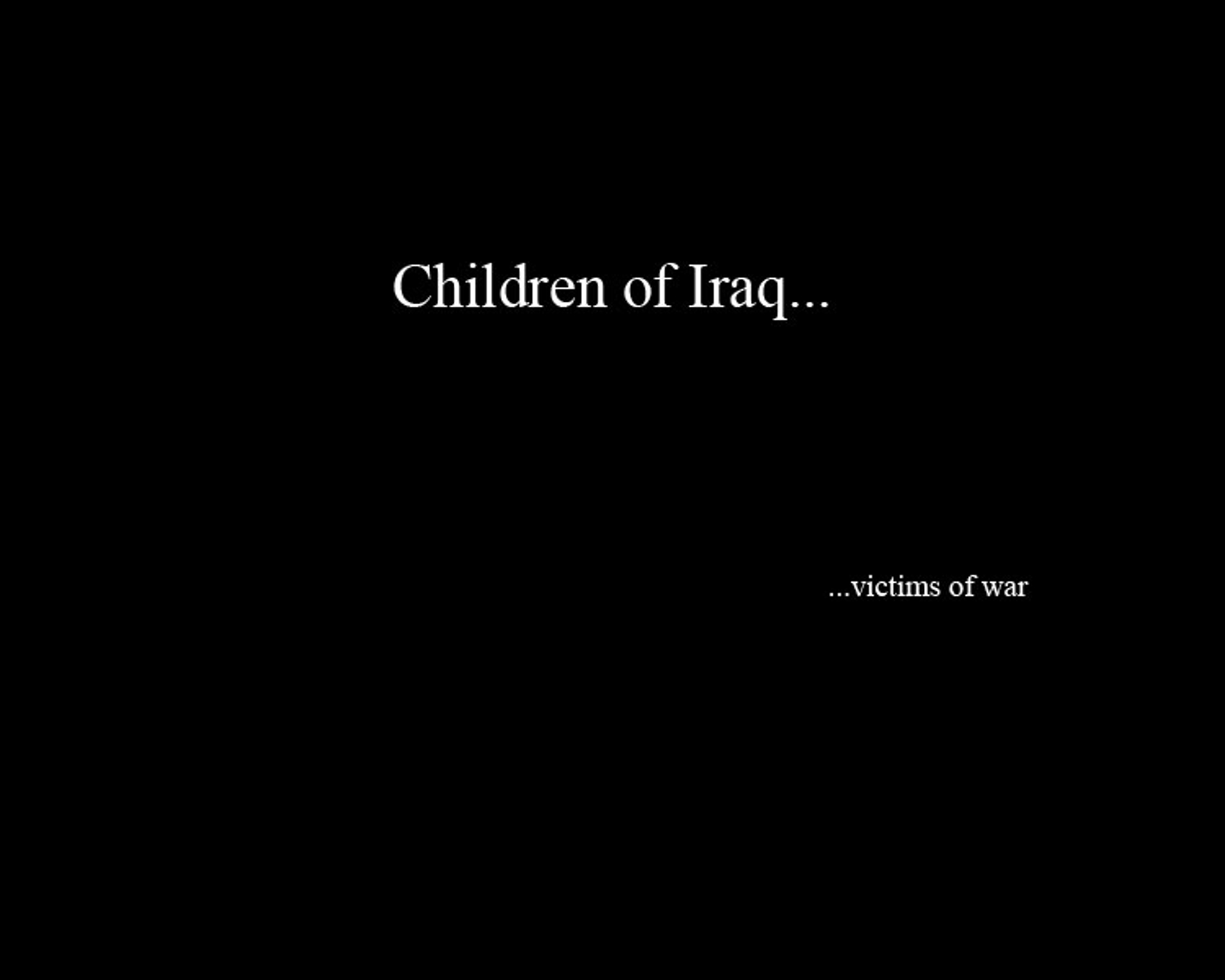 Children of Iraq - Changwlee com
